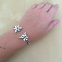Crystal and Silver Bracelet Modeled After Arwen Evenstar's Pendant