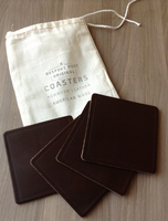 Horween Leather Coasters