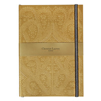 Christian Lacroix Paseo Embossed Gold Notebook