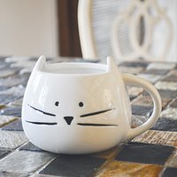 White Cat Mug by Tickled Teal