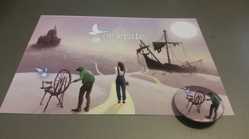 Owlcrate Oct 2016 Once Upon a Time Card & Button