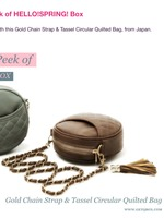 Gold Chain Strap and Tassel Circular Quilted Bag