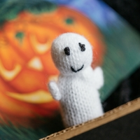 Hand-Knit Ghost Catnip Toy