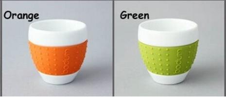 Bodum Pavina Porcelain Mug With Silicone Sleeve
