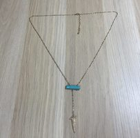 Hannah Necklace - Gold and Turquoise