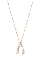 Jules Smith Gold Diamond Wishbone Necklace