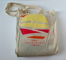 Golden Tote Sun Tote Bag