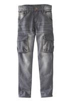FabKids Boys Grey Skinny Cargo Denim, size 5