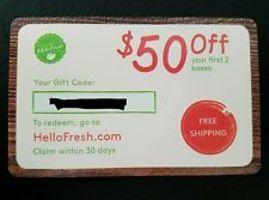 $50 Off Hello Fresh