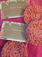 Crocheted Candy cotton face scrubbies