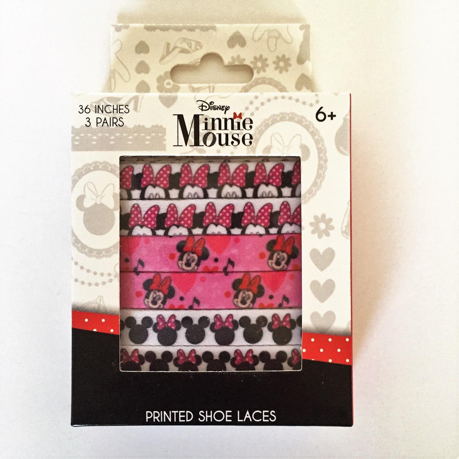 Minnie Mouse shoe laces