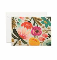 Rifle Paper Company Gold Floral Thank You card