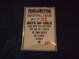 Harry Potter Umbridge Proclamation Poster
