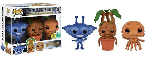 Funko Pop Minis Harry Potter Cornish Pixie, Mandrake and Grindylow