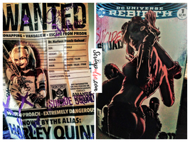 Harley Quinn Wanted Poster & Suicide Quad DC Rebirth #1 Comic