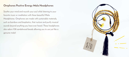Omphones Positive Energy Mala Headphones