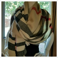 Le Luxe Plaid Blanket Scarf
