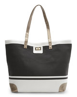 Gold Toe Everyday Tote in Star White