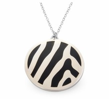 Halcyon Days Pendant Zebra Black Palladium