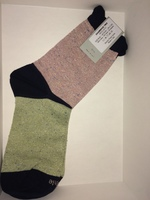 Ettiquette Socks Charming Trio Metallic Baby Green and Pink