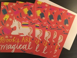 """Books are Magical"" Greeting Cards"