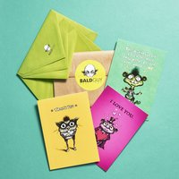 Bald Guy Greetings Set of 3 Cards