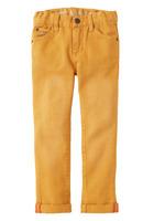 FabKids Cuffed Denim Beige Pants, size 5 T