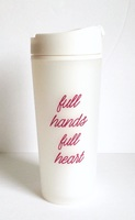 'full hands, full heart' 16oz travel mug