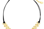 Sterling Forever Gold and Leather Chain Choker
