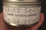 Dark Sandalwood Scented Candle