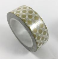 Gold Polka Dots Washi Tape