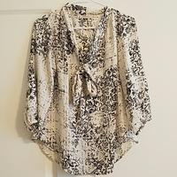 Renee C tie-front front blouse