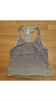 Fabletics gray and purple leopard tank