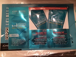 John Frieda Volume Touchably Full Shampoo and Conditioner samples with coupon