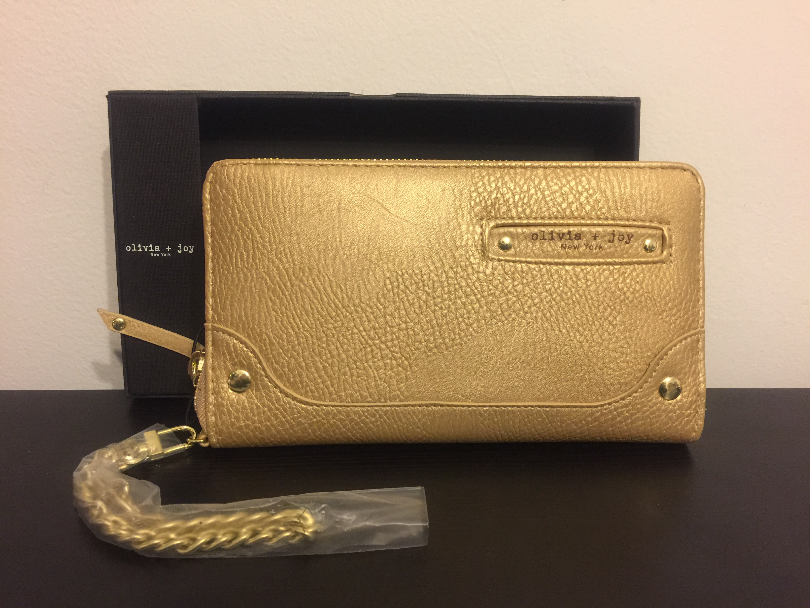 Olivia & Joy Biddy Convertible Wallet & Clutch in Gold