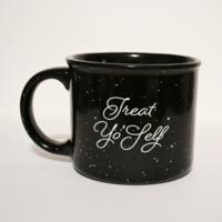 Treat Yo'self Speckled Mug