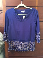 Skies Are Blue Purple Blouse (XS)