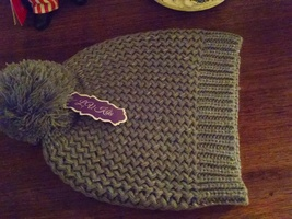 Grey hat with silver sparkles