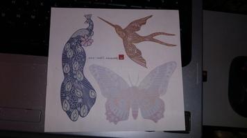 Iron Ons Peacock Butterfly Hummingbird