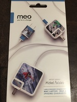 Meo Artist Series Michel Poitier Labels Designed for Mac laptop, iPad and iPhone chargers