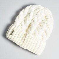 Soia & Kyo Olivia Cable Knit Hat - Vanilla