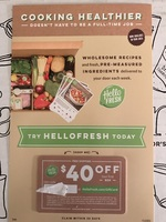 $40 off first box of HELLOFRESH