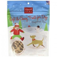 Cloud Star soft and chewy treats for dogs - gingerbread flavor