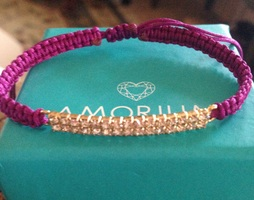 Amorium gold & diamanté bar bracelet
