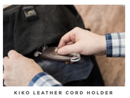 Kiko Leather Cord Holder