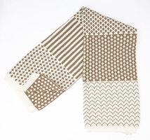 Minka Inhouse  Geometric Reversible Throw Blanket (Iced Mocha)