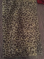 Leopard patterned scarf