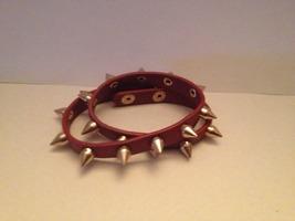 Red Spiked Bracelet