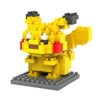 Pixel Pikachu Pokemon Nanoblock (DIY Build)