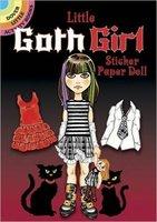 Little Goth Girl Sticker Paper Doll